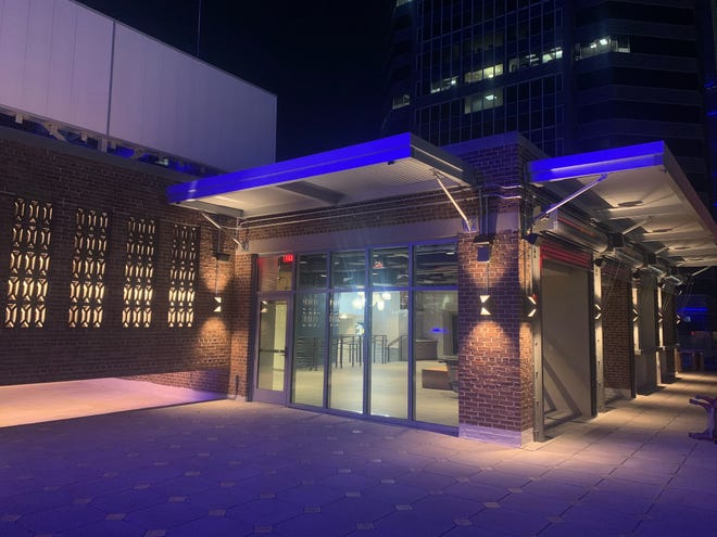 Estrella Cocina will have indoor and outdoor seating when it opens in May atop the VyStar complex in downtown Jacksonville.