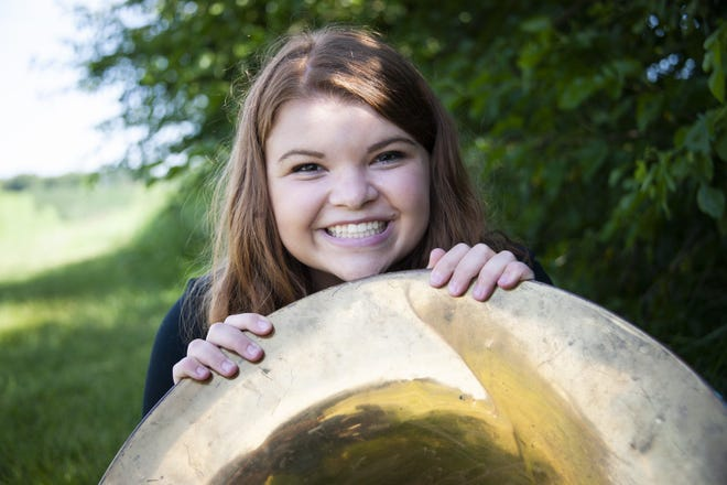 The Illinois Music Education Association selected senior Molly Vestal to represent Orion High School in the District 2 senior band for 2020-21. She plays the tuba in the low brass section.