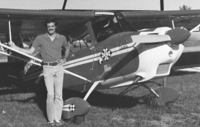 Jim Meyer with his Citabria, 1978.
