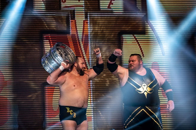 The Bouncers, comprised of The Beer City Bruiser (left) and Brian Milonas (right) have been teaming in Ring of Honor for nearly four years.