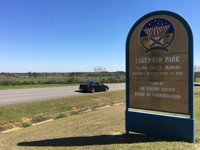 Lakewood Park in north Walton County stands atop Britton Hill, Florida's highest point.