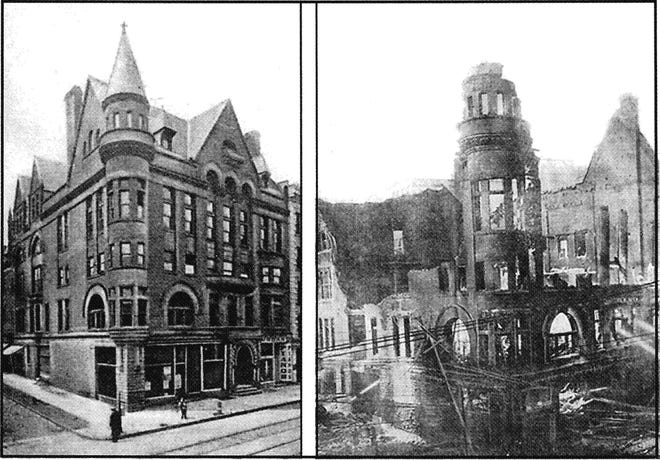 On the morning of March 1, 1907, the castle-like Young Men's Christian Association (YMCA) building, on the southwest corner of Bleecker and Charlotte streets in downtown Utica, was a mass of smoldering ruins. At 3 a.m., Henry Dietz, a chef at the nearby Bohemian Café, was walking home from work when he saw flames leaping from the front windows of the building. He notified the fire department, but 30 minutes later, the walls collapsed and the roof fell to the cellar. The Utica YMCA was founded in 1858 and members opened their magnificent building on Bleecker Street in 1889 at a cost of $105,000.The Y later moved to Washington Street.