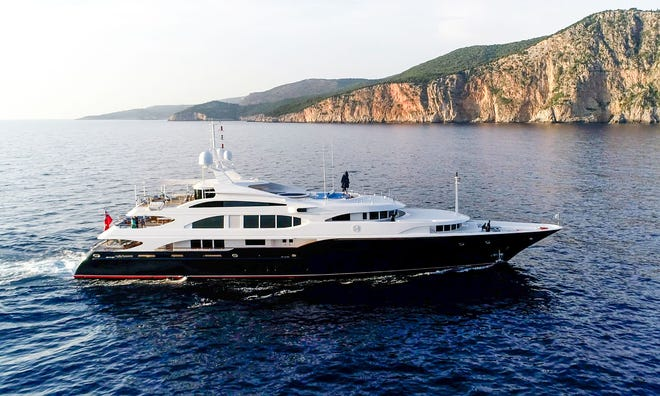 The 180-foot Lady Michelle is priced at $19.5 million.