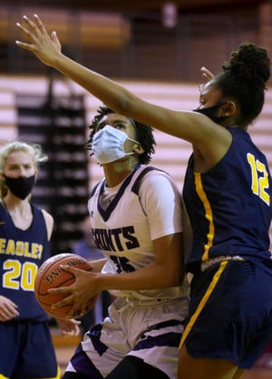 St. Raphael's Amaya Dowdy showed up big in every game for the Saints this season.