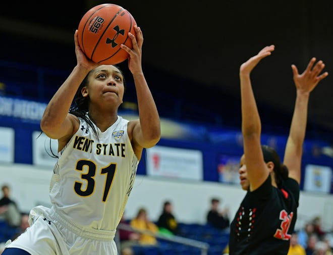 Megan Carter overcame several major knee injuries to enjoy a standout career at Kent State, but it was cut short last season when the 2020 MAC Tournament was canceled due to COVID-19.
