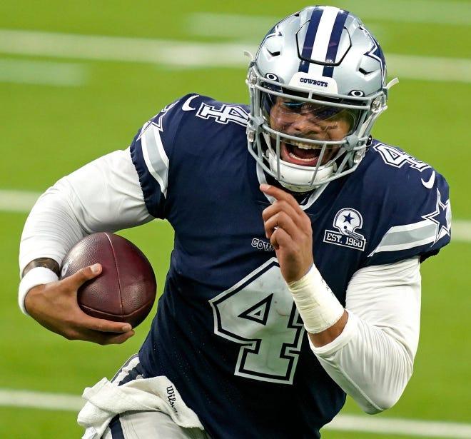 Dallas Cowboys quarterback Dak Prescott missed 11 games with a broken ankle during the 2020 season.