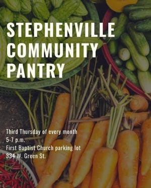 The next Stephenville Community Pantry is scheduled for Thursday, March 18.