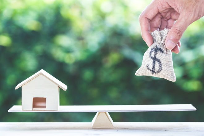 A reverse mortgage loan allows homeowners to borrow money using their home as security for the loan.