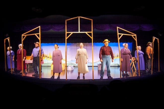 """A scene from the original Blue Gate Musicals production """"The Confession,"""" based on a book by Beverly Lewis. Blue Gate is now producing shows at Sarasota's Carlisle Inn."""