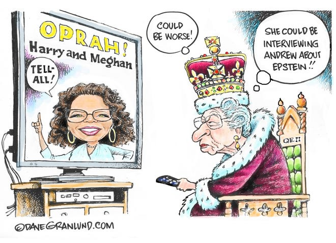 Granlund cartoon: Could be worse Dave Granlund cartoon on the British Royal family.