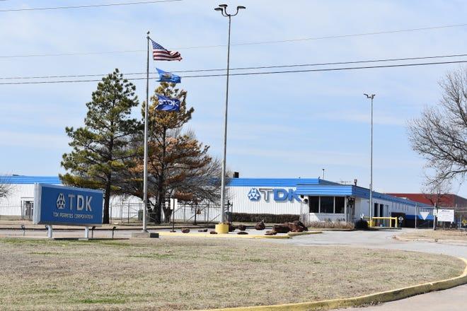 TDK Ferrites Corp., at 5900 N. Harrison, in Shawnee.