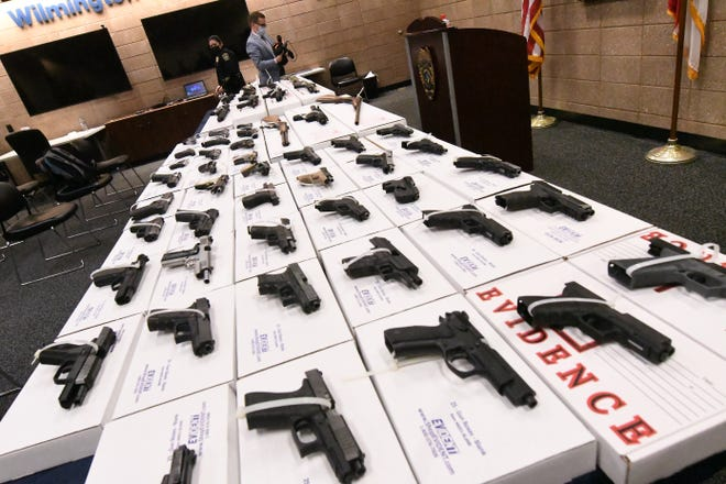 The Wilmington Police Department held a press conference March 8 to discuss the rise in gun violence in the New Hanover County area.