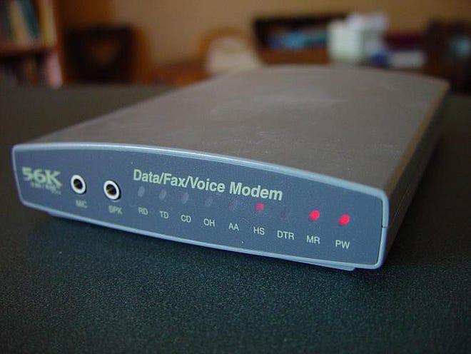Illustration of internet modem.