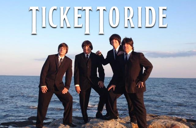 Ticket to Ride, an authentic tribute to The Beatles, will perform a weekend of live music March 26-28 — presented under the state's Phase 3 reopening guidelines — at the Katharine Hepburn Cultural Arts Center, 300 Main St., Old Saybrook.