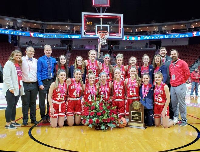 The 2020-2021 Class 4A state champion Ballard girls' basketball team