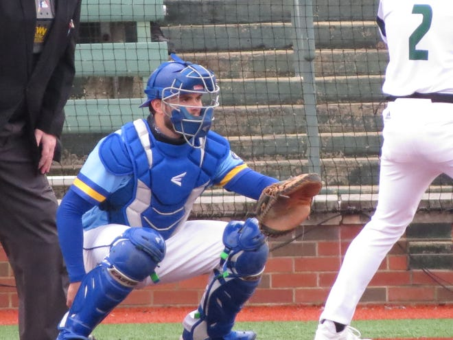 Former St. John's and Worcester Bravehearts catcher Jack Gardner of Jefferson is thriving at Morehead State.