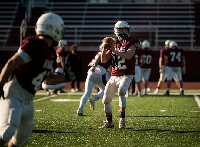 Northbridge quarterback Ryan Boyce, shown in practice earlier this week, helped the Rams edge Leicester to open the season Friday.