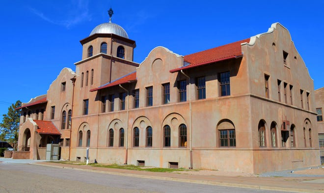 The 1901 Colorado Fuel and Iron Company administration building is part of the steel mill complex designated as a National Historic Landmark.