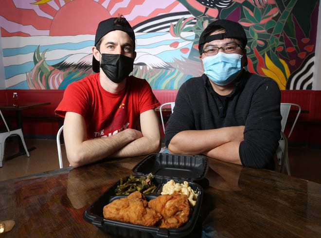 Drew Cleary (left) and Xue Gong Chen opened the Crispy Coop on March 5 at 1510 Cross Creek Blvd. in Pickerington. They opened another restaurant in early 2020 at 1717 Northwest Blvd. in Columbus.