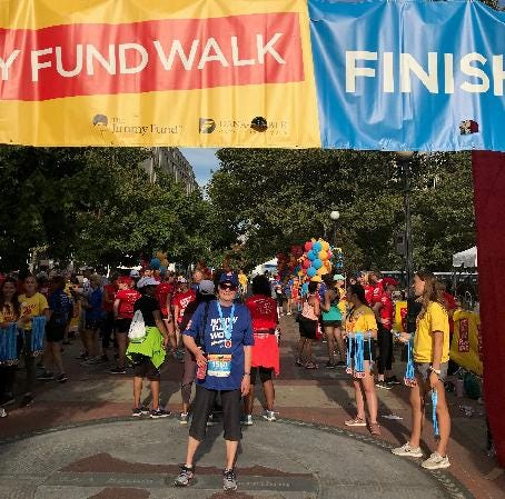 Plymouth resident Claudia Ramelli joined the Boston Marathon Jimmy Fund Walk presented by Hyundai in honor of her family and friends.