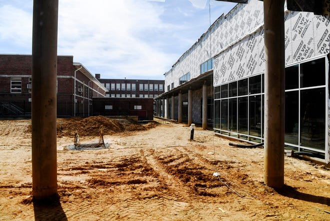 Hendersonville High School construction March 9, 2021. A $30,000 North Carolina State UniversityInstitute for Transportation Research and Education land use study will aid Henderson County Public Schools in strategic planning for facility use over the next 10 years.