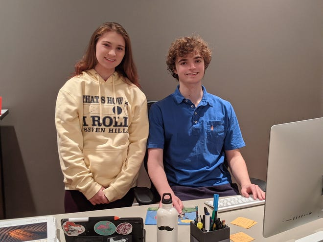 Erin Finn (left) and Aidan Finn (right) are the founders of Tutor Teens, an organization providing free, virtual tutoring to Cincinnati students.