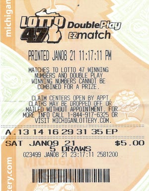 A 57-year-old Wayne County woman recently won a Lotto 47 jackpot worth $1.2 million.