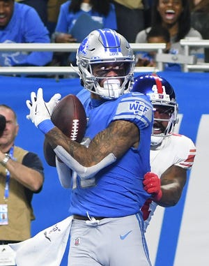 The Lions reportedly won't use the franchise tag on receiver Kenny Golladay, allowing him to become a free agent.