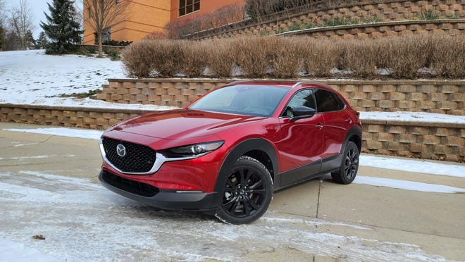 The 2021 Mazda CX-30 Turbo builds on the standard, $31k CX-30 by adding standard AWD and a powerful engine.
