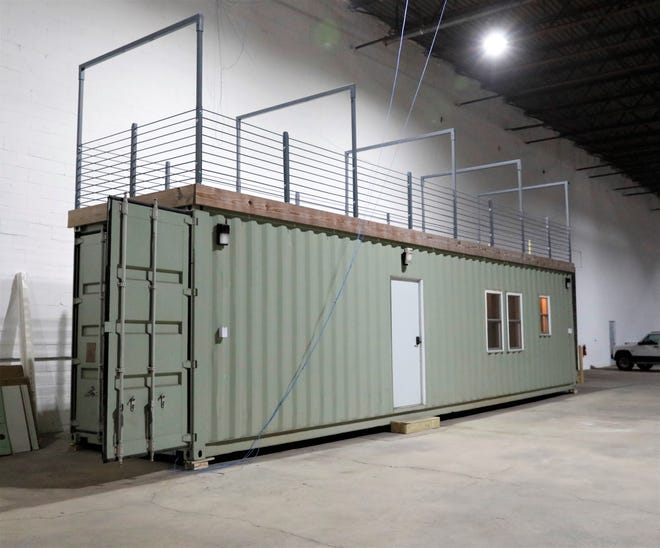 A container home model, constructed by Max Container Options in Lancaster. Lancaster City Council passed an ordinance to allow residential container homes to be built in certain areas of the city at the March 8 meeting.