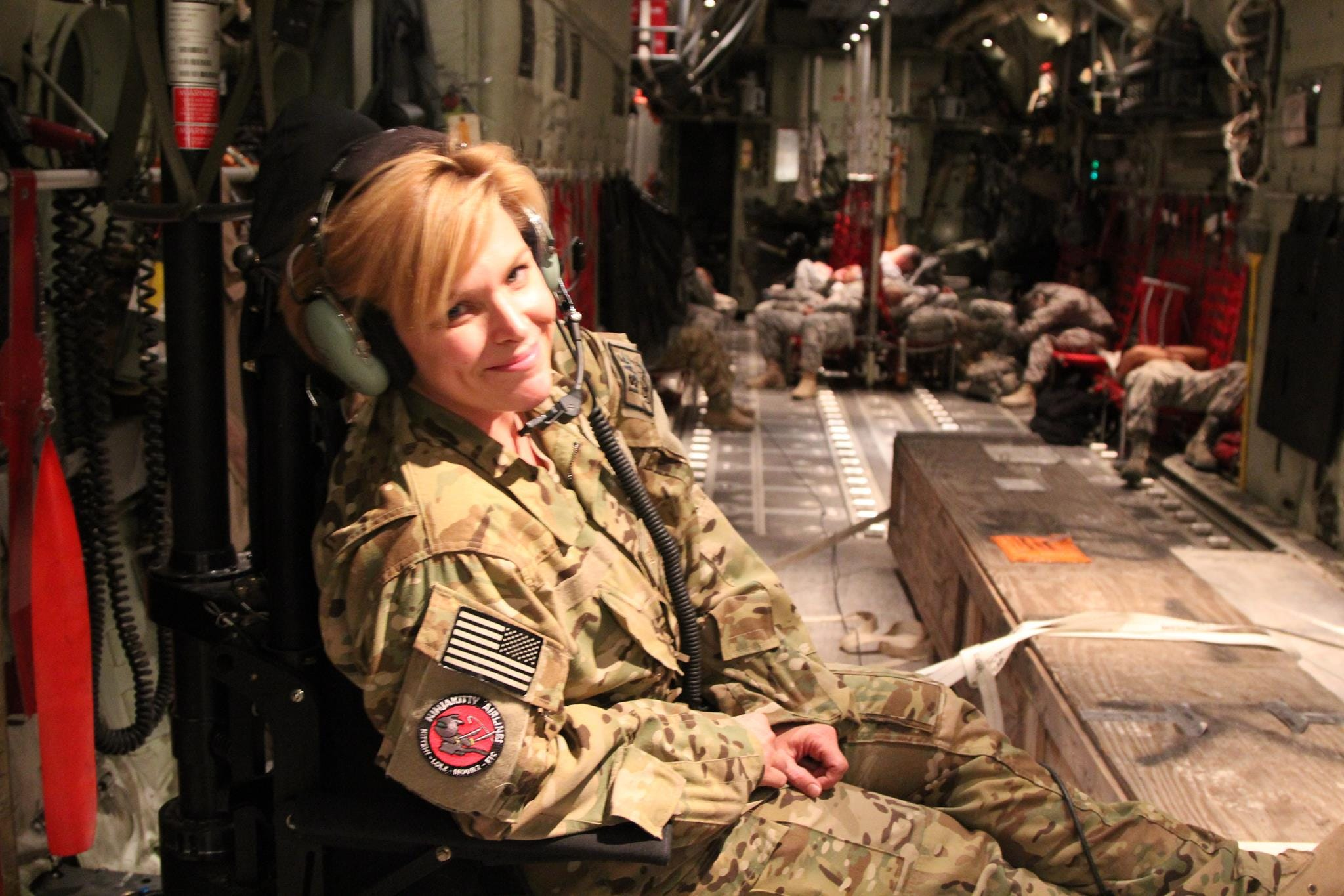 Always interested in flying, Christine Clayburg served as a loadmaster for C-130 cargo planes in the California Air National Guard.