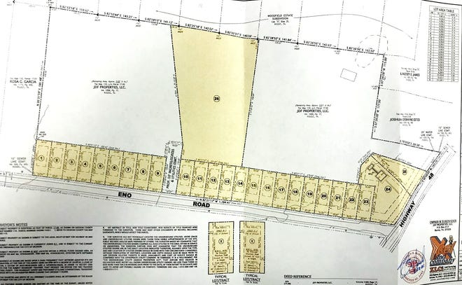 Plans for a 25-home development at the intersection of Eno Road and Highway 48, and three bigger tracts for larger homes.