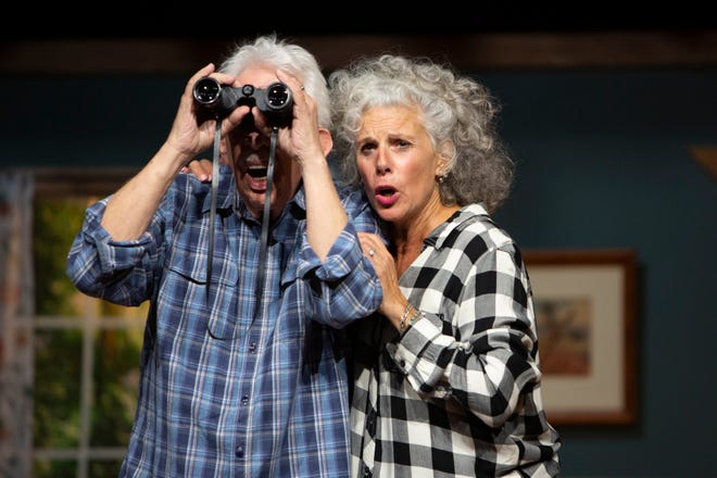 Studio Players rehearse scenes from On Golden Pond, Monday, March 8, 2021, at Joan Jenks Auditorium at the Golden Gate Community Center.