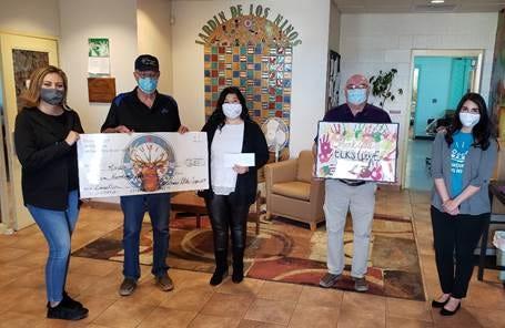 Las Cruces Lodge of Elks #1119 recently donated $650 to Jardin de los Niños.