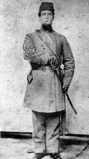 James G. Hayes is pictured in a photo taken not long after he enlisted to fight in the Civil War.