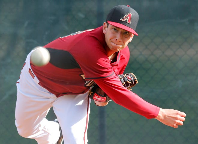 Alex Sanabia is seen here during his days with the Ariona Diamondbacks.