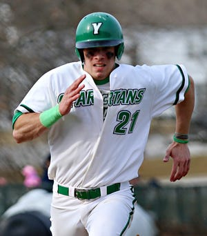 York College's Jimmy Wiegers is seen here in a file photo. Wiegers had three hits Tuesday vs. DeSales.