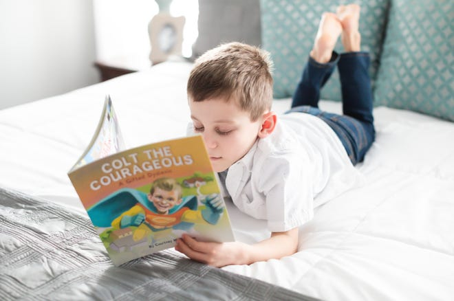 """Colt Davidson, 9, is the protagonist in """"Colt the Courageous,"""" which follows his dyslexia journey and diagnosis."""