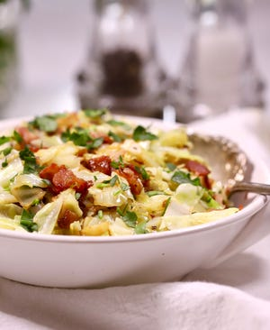 This crisp-tender cabbage and smoky bacon is perfect for St. Patrick's Day or any day of the week.