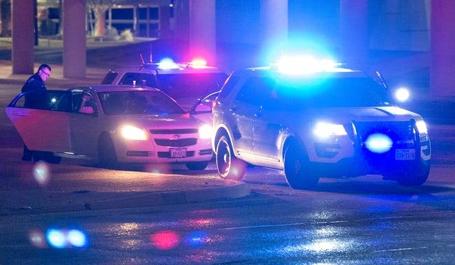 Wichita Falls police searched a car Monday night after the driver lead them on a short Pursuit.