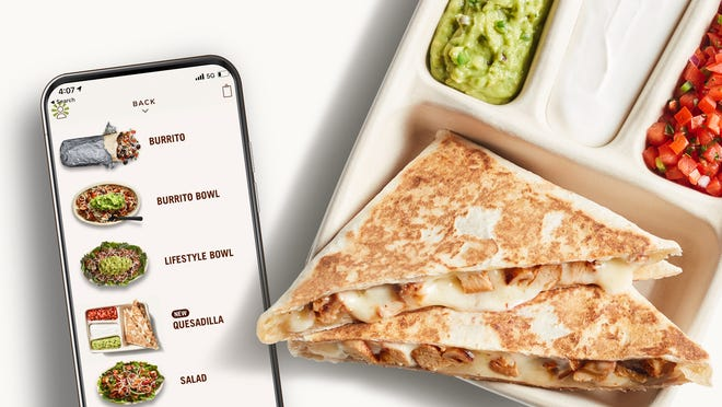 Chipotle will introducethe Quesadilla asits first digital-only menu item on Mar. 11.