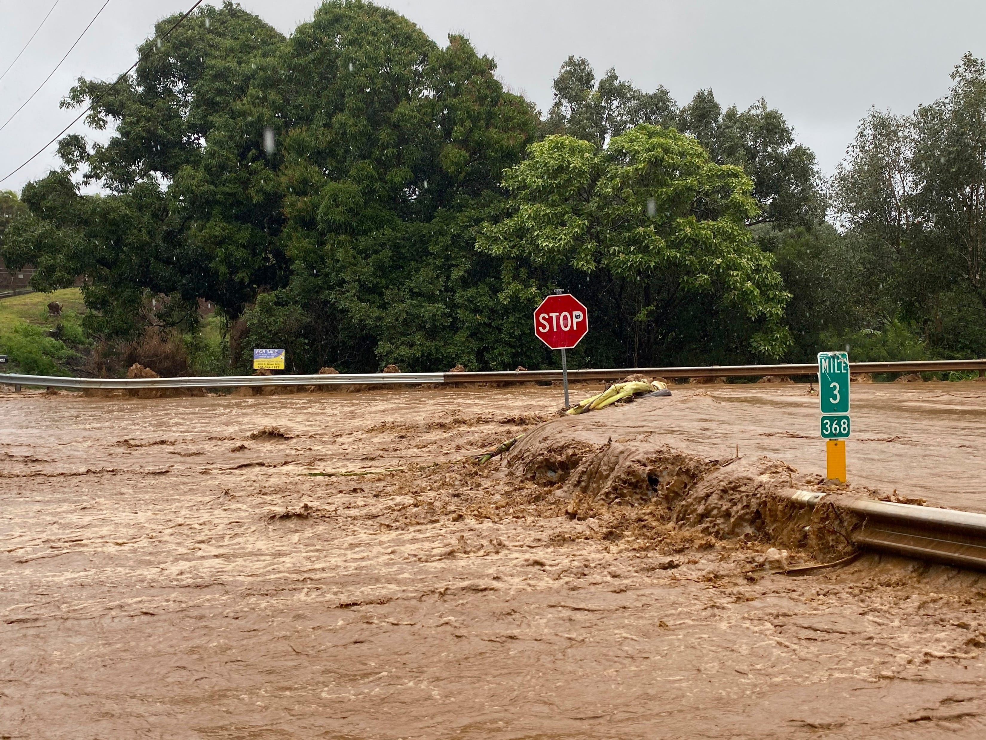Heavy rains lead to crippling floods in Hawaii. Scientists warn of more occurrences due to climate change.