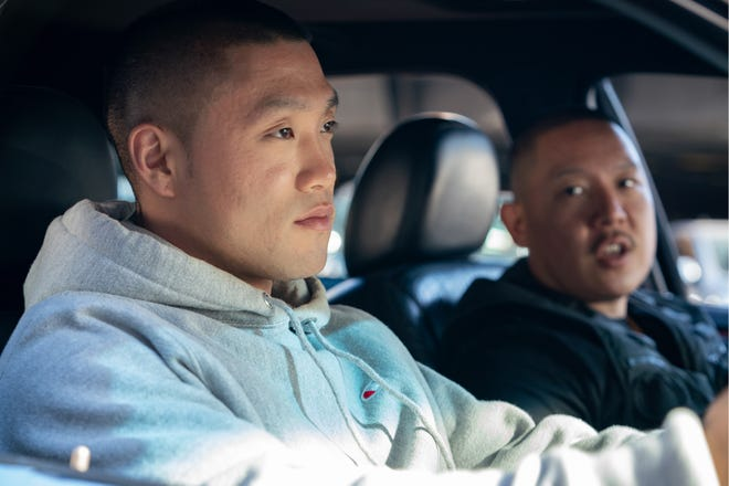 """(L-R) Taylor Takahashi stars as Alfred 'Boogie' Chin and writer/director Eddie Huang as Jackie in """"Boogie,"""" a Focus Features release."""