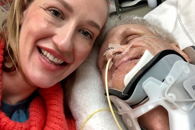 Hayley Zimmerman flew from Chicago to be with her father, John Hekker, at AU Medical Center after he was struck by a vehicle while cycling to work.