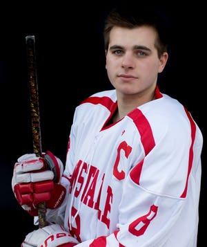 """""""It was super-weird not having people at our games,"""" says BHS Hockey captain Will Martone. """"We have some of the best fans in the state in Barnstable, and it was tough not having any fans at our games."""""""