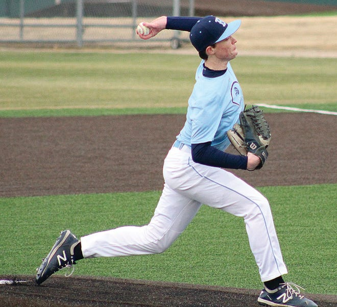 William Parsley delivers a pitch for Bartlesville High during action earlier this month.