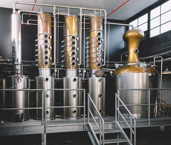 The still at Watershed Distillery in Columbus, which plans to restart tours next weekend.
