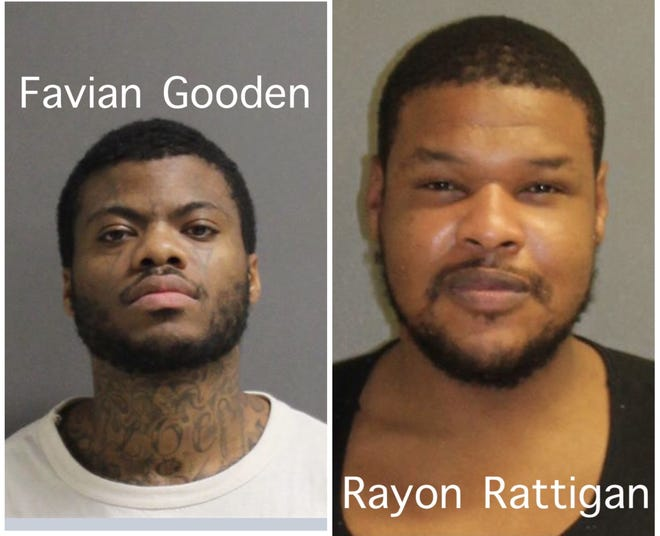 Volusia County sheriff's detectives say Favian Gooden, a prisoner at Tomoka Correctional Institution, who was being held in the Volusia County Branch Jail for a court appearance, stabbed jail inmate Rayon Rattigan multiple times early Tuesday morning with a makeshift knife.