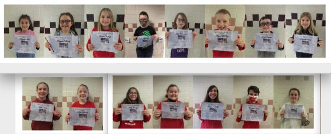 WALLENPAUPACK - The following students at Wallenpaupack North Intermediate School were recognized for their display of responsibility during the month of February. TOP ROW 3rd grade (left to right) – Adrianna Bibbs, Reagan Buselli, Emma Eckhoff, Porter Herchenroeder, Lily Klosterman, Liam McCue, Kellan Paquette, Samantha, Rhohde. BOTTOM ROW: The first two are 4th graders,  Annie James and Sara Warner. Next to them are 5th graders Riley Eckhoff, Katelyn Foster, Savannah O'Fee, Christopher Smith, Ivah Sweller. Missing from the photo are Christopher Neal, Austin Sasala, Liam Shank, Evan Deckinger and Jenna Hol.