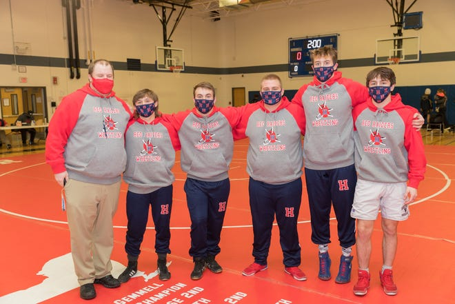 The Hornell Red Raider seniors gather for a photo. Hornell capped off an undefeated regular season as it now turns its attention to strong performances at sectionals.